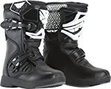 Fly Racing Unisex Youth Maverik Mini MX Boots (Black, Size 12)