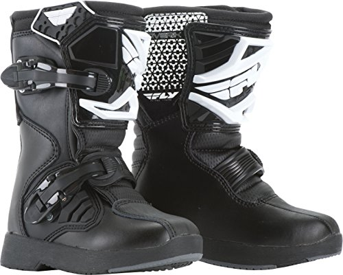 Fly Racing Unisex Youth Maverik Mini MX Boots (Black, Size 12) by Fly Racing (Image #1)