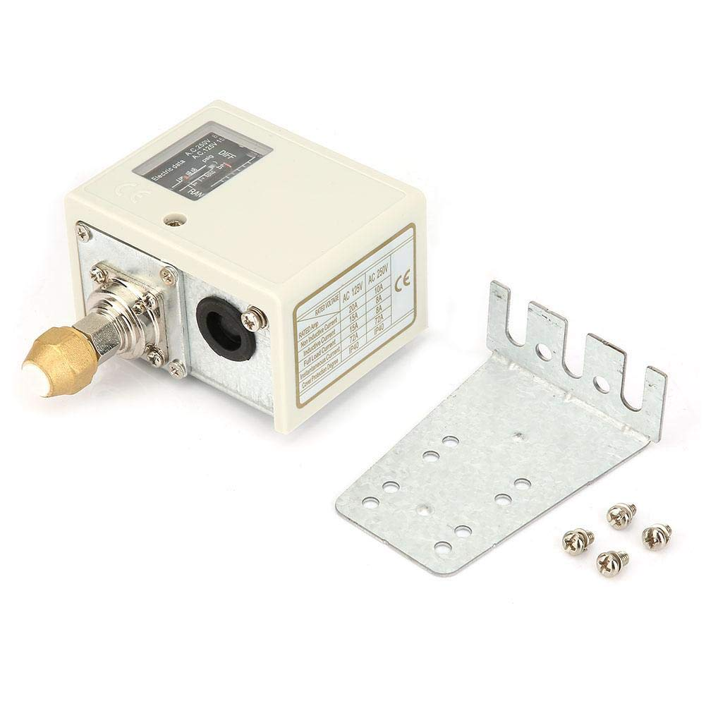 Interruptor de control de presión, controlador de presión de compresor de bomba de agua de aire 24V ~ 380V