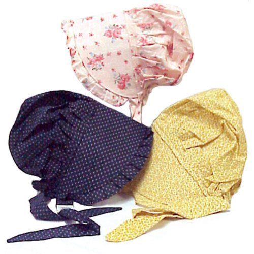 (Bonnet Large Made from 100% Cotton 'Colors May Vary')