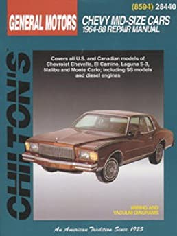 ch28440 chevrolet mid size 1964 1988 chilton repair manual rh amazon com 1967 Chevelle 1968 Chevelle