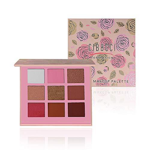 CIBBCCI Newest Eyeshadow Palette 9 Colors Pink Mermaid Warm-toned (5 Matte + 4 Shimmer) Ultra Pigmented Waterproof Eye Shadow Makeup Pallet
