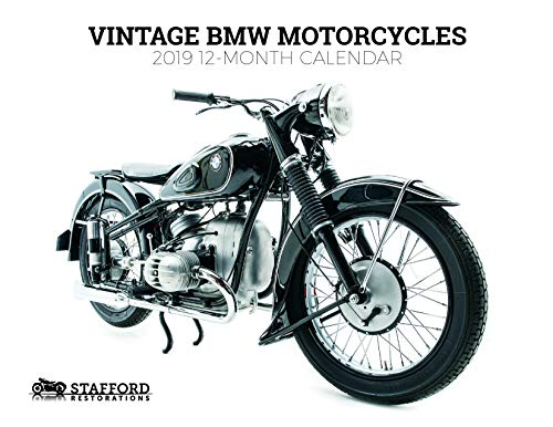 Vintage BMW Motorcycles 2019 12 Month Wall Calendar -