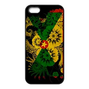 iPhone 5 5s Cell Phone Case Black Grenada Flag S0405636