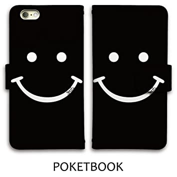 4e81272c13 Amazon | iPhoneSE 5s 5 ケース 手帳型 スマイル ニコちゃん smile ...
