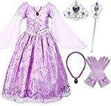 Romy's Collection Girls Rapunzel Deluxe Princess Party Dress Costume (9-10)