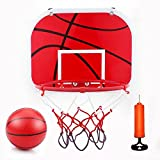Basketball Hoop Set Basketball System Indoor Outdoor Height Adjustable Basketball Board with Ball and Pump for Children Kids