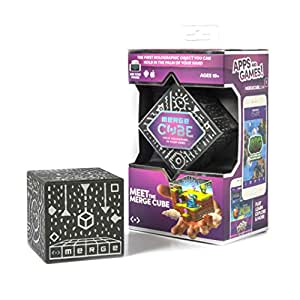 MERGE Cube - Hold a Hologram with Award Winning AR Toy for Kids - iOS or Android Phone or Tablet Brings the Cube to Life, Free Games With Every Purchase, Works with VR/AR Goggles