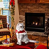 Cat Christmas Costume, Adjustable Pet Cat Santa Clothes Cloak with Bells, Puppy and Cat Xmas Claus Costumes Apparel Party Clothing Cape for Small Dogs and Cats Cosplay (Cat Christmas Costume, Red)