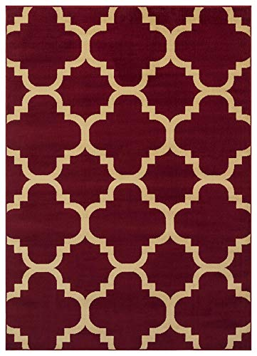 Princess Collection Moroccan Trellis Lattice Area Rug, 5