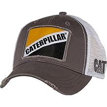 Gato gris de sarga W/Caterpillar Patch Cap