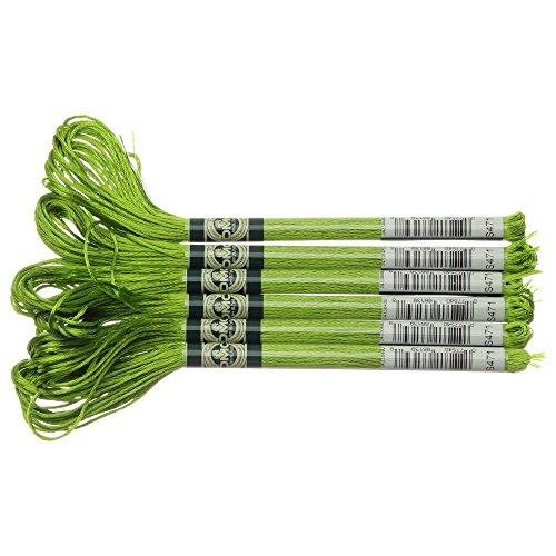 - DMC 1008F-S471 Shiny Radiant Satin Floss, Avocado Green, 8.7-Yard