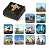 11 Piece Fridge Magnets Set of Jesus Christ Holy Places In A Designed Package The Best Gift for Religious Friends & Loved Ones Suitable for Church, Refrigerator Decoration Vision Boards and More