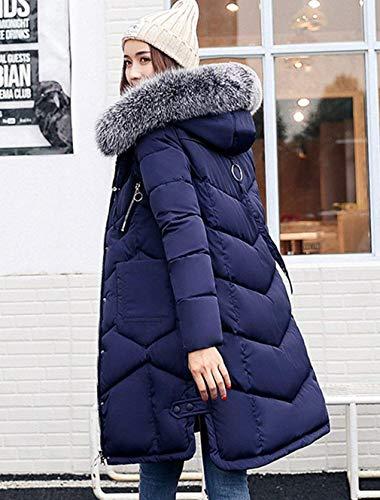 Femme Parka Fourrure Chaud avec Fashion Les Doudoune Jours Hiver Chemin Capuchon Longues Tous 4rHwq4Z