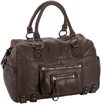 Linea Pelle Dylan Gunmetal 24 Hour Overnight Bag,Espresso,one size