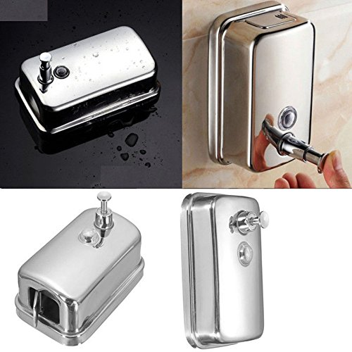 500Ml Stainless Steel Soap/Shampoo Dispenser Lotion Pump Action Wall Mounted New Ml Bubble Wand