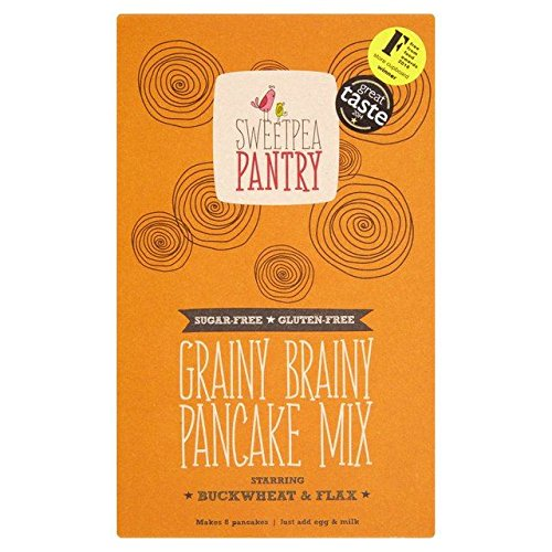 Sweetpea Pantry Grainy Brainy Pancake Mix with Buckwheat, Flax and Quinoa, 365 grams