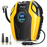 Tire Inflator, BREEZZ Air compressor Pump, 12V DC Portable Auto Tire pump with Digital Display up to 150PSI for Car, Bicycle and Other Inflatables (Orange-1)