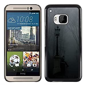 Exotic-Star ( Lamp Fog Park Graveyard Fall ) Fundas Cover Cubre Hard Case Cover para HTC One M9