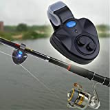 #7: Meharbour Sensitive Electronic Fishing Bite Alarm Indicator with LED Sound Alert On Fishing Rod for Daytime/Night Carp Fishing