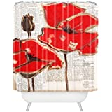 DENY Designs Irena Orlov Red Perfection Shower Curtain, 69 x 72