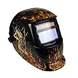 Instapark ADF Series GX-350S Solar Powered Auto Darkening Welding Helmet with Adjustable Shade Range #9 - #13 (Smoking Hot)