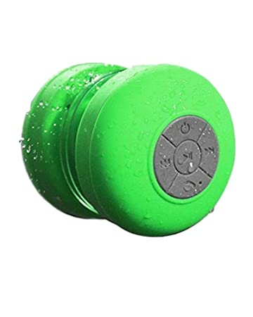 Sonder Waterproof Wireless Stereo Green Shower Bluetooth Speaker Speakers