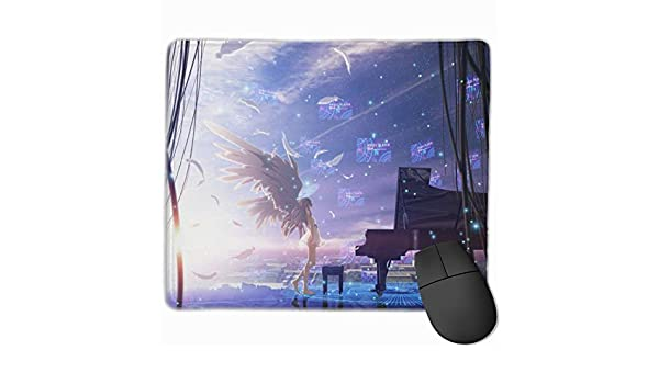Angel Beats Ideal for Laptops and Computers15.8x35.5 in Custom Designed Stitched Edge Waterproof Non-Slip Rubber Bottom Mouse Pad Anime Large Gaming Mouse Pad