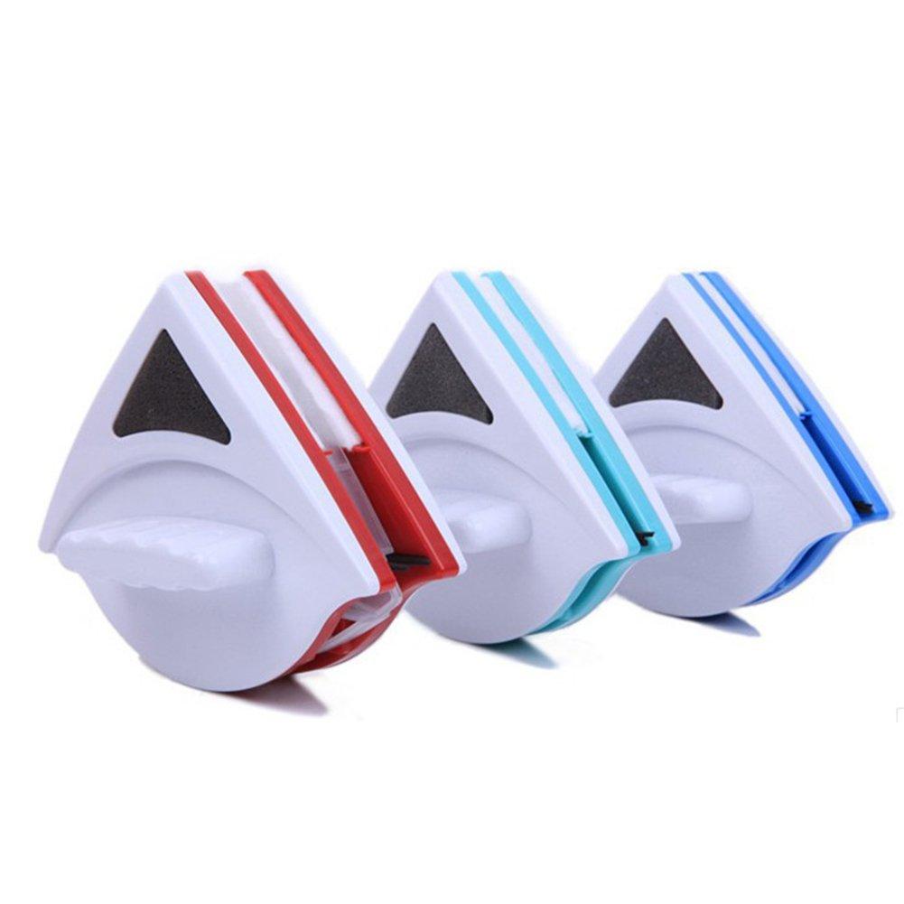 Yongan doppelseitiger magnetischer Fensterreiniger blau mit ergonomischem Griff sehr stark auf beiden Seiten Free Size