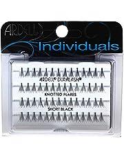 ARDELL Individuals Short (Knot Free), Eye-Lasshes afzonderlijke wimpers van echt haar (1 x 56 stuks), zwart, zwart (zonder lijm) (1x)