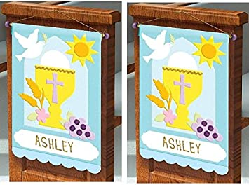 First Communion Pew Banner Decorating Felt Craft Kit