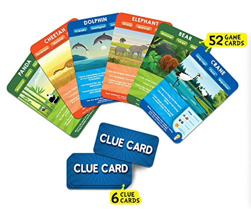 Skillmatics Guess in 10 Animal Planet   Card Game of Smart Questions   Super Fun for Travel, Family Game Night & Summer…