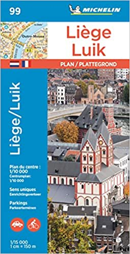 Michelin Liege Map No 99 Road Tourist Map French Edition