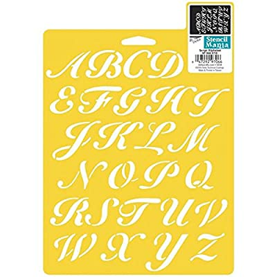 Delta Creative Pochoir Stencil Mania, 17,7x25,4cm, 970660710Lettres de l'alphabet script