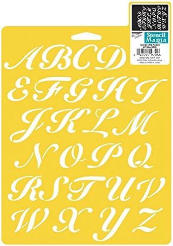 Delta Creative Stencil Mania Stencils, 7 by 10-Inch, Script ...