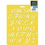 Delta Creative Mania Pochoir Pochoirs, 7par 25,4cm, 970660710Script lettres de l'alphabet