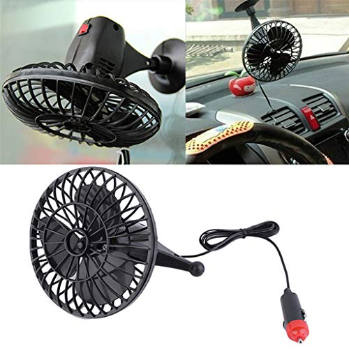 (Panel Switch Car 4 Inch Summer Mini Air Fan Powered Adsorption 12v Car Electric Fan)