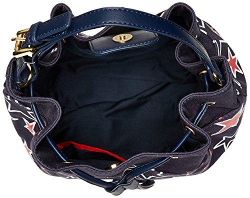Tommy Hilfiger , Sac à main porté au dos pour femme multicolore bleu marine/rouge