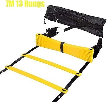 Escalera de agilidad de velocidad, ejercicio de fútbol, ejercicio deportivo, escalera, ajustable para saltar al aire libre, escaleras de agilidad para niños y adolescentes (7 m): Amazon.es: Deportes y aire libre