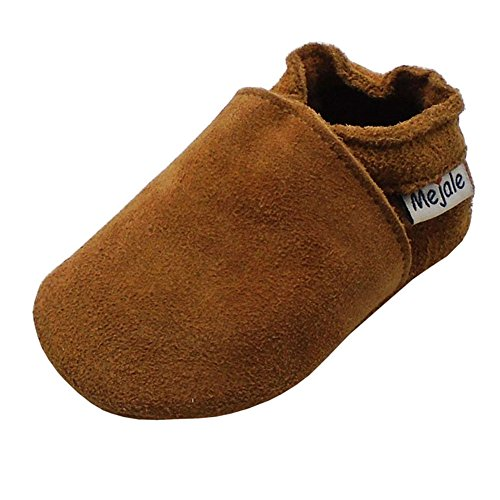 Loafer Soft Soled Leather Shoes (Mejale Baby Infant Toddler Shoes Anti-Slip Soft soled Leather Moccasin Pre-Walker (12-18 Months/US 5-6C Infant))