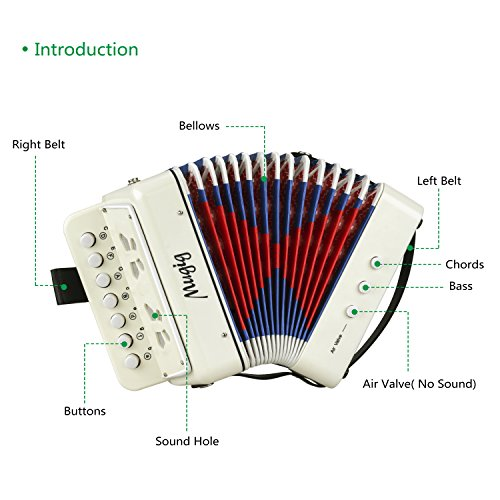 Mugig Accordion Kids Toy Accordion, Sound Toys Ten Keys Solo and Ensemble Instrument, Musical Instrument for Early Childhood Teaching - Image 3
