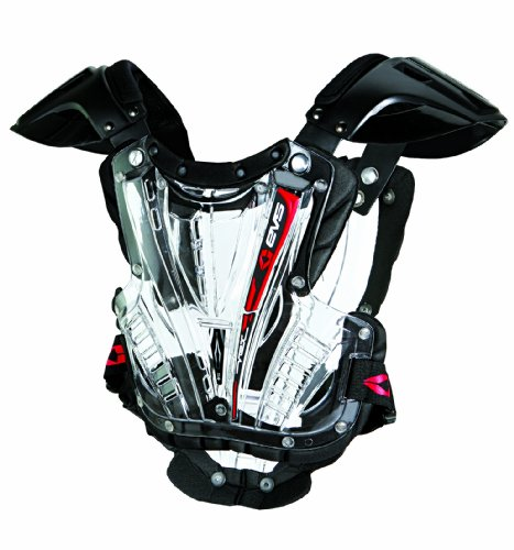EVS Sports VEX Chest Protector (Clear/Black, Youth Small) by EVS Sports