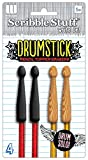 The Board Dudes Write Dudes Scribble Stuff Drumstick Pencil Topper Erasers - Drum Solo (CYH09)