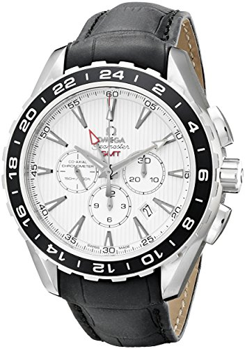 Omega Men's 231.13.44.52.04.001 Aqua Terra Automatic Stainless Steel Watch with Black Leather Band