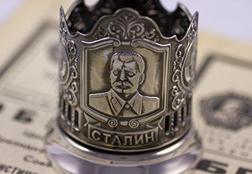 Russian Tea Glass Holder Stalin Cup Podstakannik USSR