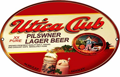 Reproduction Utica Club Pilsener Lager Oval Beer Sign