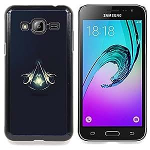 "Qstar Arte & diseño plástico duro Fundas Cover Cubre Hard Case Cover para Samsung Galaxy J3(2016) J320F J320P J320M J320Y (Asesinos Escudo"")"
