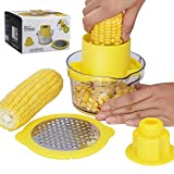 Beaverve Corn Stripper, 4 in 1 Corn Shucker Tool Corn Holder, Corn Stripping