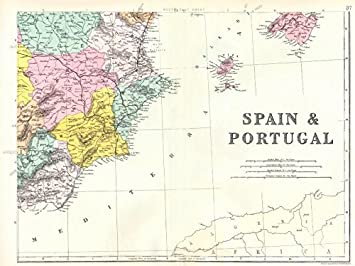 SPAIN SW: Murcia Valencia Castile La Mancha Balearic islands. Bacon ...