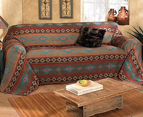 BLACK FOREST DECOR Canyon Shadows Southwestern Sofa Cover - Rustic Furniture (Western Covers Couch)